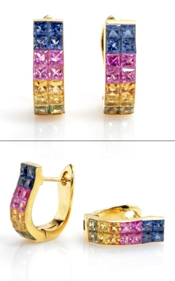 Eichhorn Gems 18K Rainbow Sapphire Earrings #JERSP01312 product image