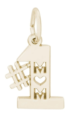 Rembrandt Gold Number One Mom Charm 6179-14KY product image