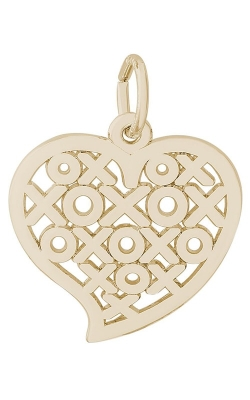 Rembrandt Gold Hugs & Kisses Heart Charm 6401-14KY product image