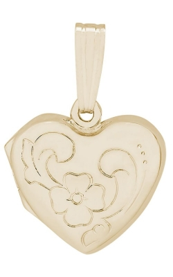 Rembrandt Gold Heart with Flower Design Locket 8605-14KY product image