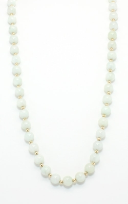 14K Yellow Gold & Green Jade Necklace #JPOLJ00638 product image