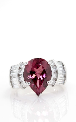 14K White Gold Pear Pink Tourmaline & Diamond Ring DRSP11908 product image