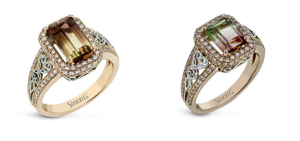 Simon G Bi-Color Tourmaline Fashion Rings