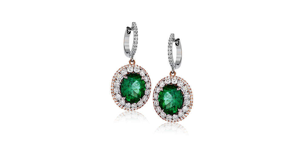 Simon G Emerald Drop Earrings