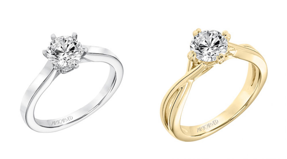 Minimalist Engagement Rings at Barons Jewelers