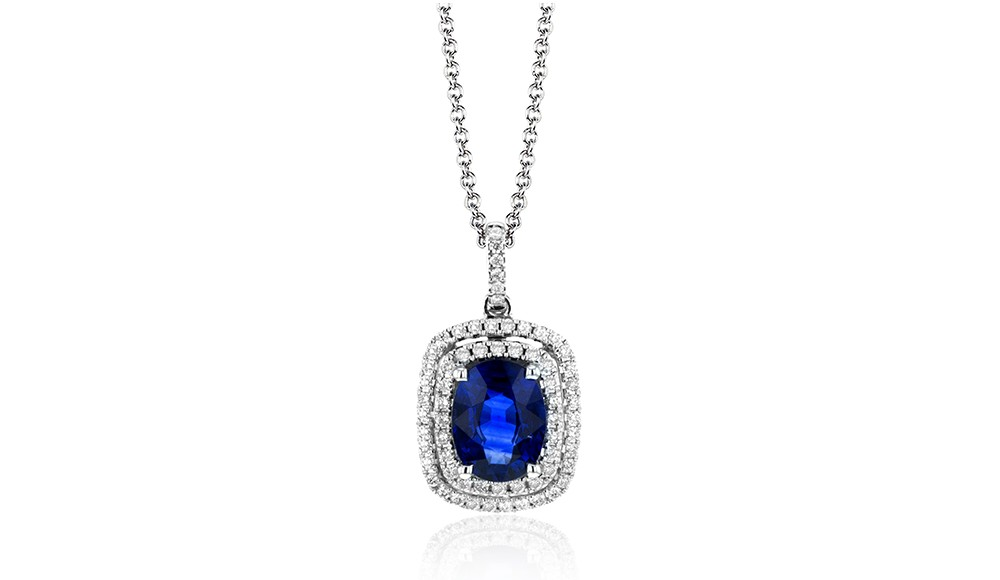 Simon G. sapphire necklaces at BARONS Jewelers