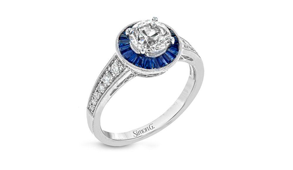 Simon G. sapphire engagement rings at BARONS Jewelers