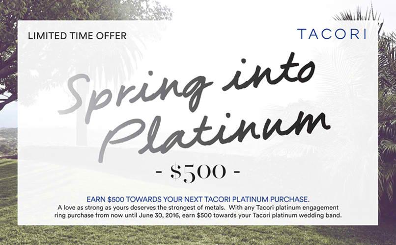 Tacori Spring into Platinum