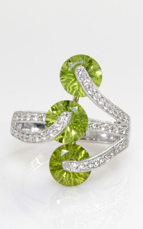 18K Diamond & Peridot Ring DRSP09573-2 product image