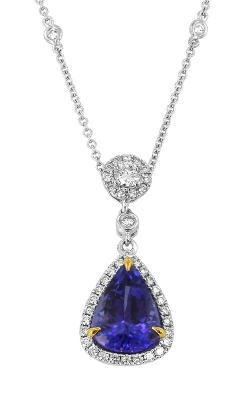 Yael Designs 18K Two-Tone Tanzanite & Diamond Pendant, Item# DPEX01811 product image