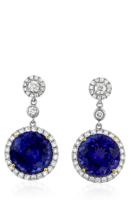 18K Diamond & Tanzanite Earrings #DEREX01526 product image