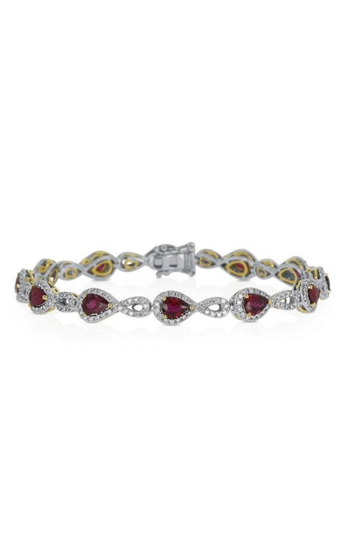 18K Two-Tone Ruby & Diamond Bracelet DBRP02605 product image