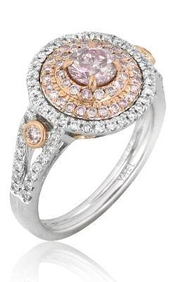 Platinum-18K Rose Gold Pink & White Diamond Ring DRHIL05425 product image