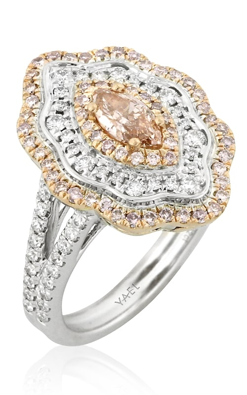 18K Two-Tone Marquise Pink Diamond Ring product image