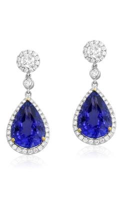 Yael Designs 18K Two-Tone Diamond & Tanzanite Earrings #DEREX01553 product image