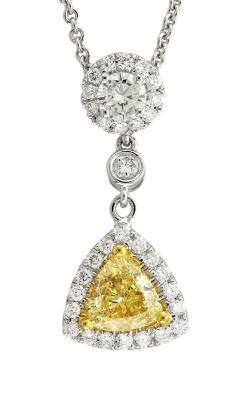 Yael Designs 18K Two-Tone Diamond & Fancy Yellow Diamond Pendant #DPHIF00950 product image