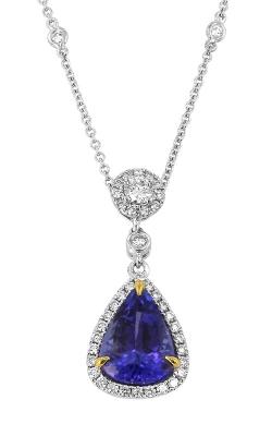 Yael Designs 18K Two-Tone Tanzanite & Diamond Pendant, Item# DPEX01802 product image
